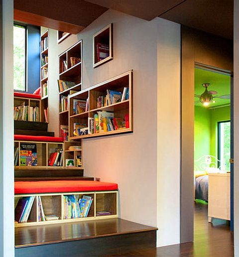 Bookcase In stairs A Home For Book(shelf) Lovers