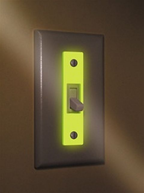 GloPlate Illuminate The Way With Luminescent Light Switch Covers