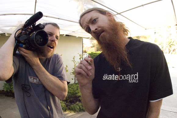 Jeff King and Camera man Jeff King   Skater and Host of Built To Shred on Fuel TV