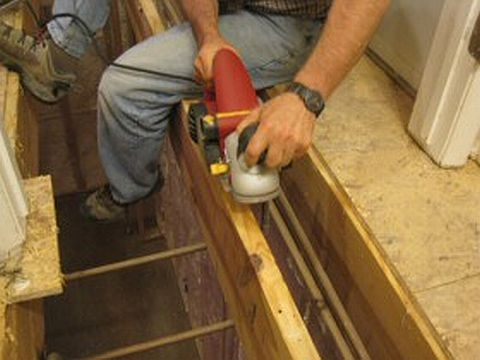 PlaningAJoist HardwoodInstallation 080410 Hardwood Floor Installation Tutorial