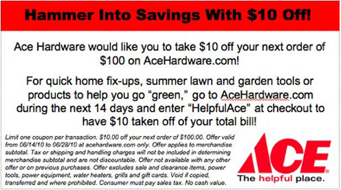 ace hardware coupon Ace Hardware Coupon