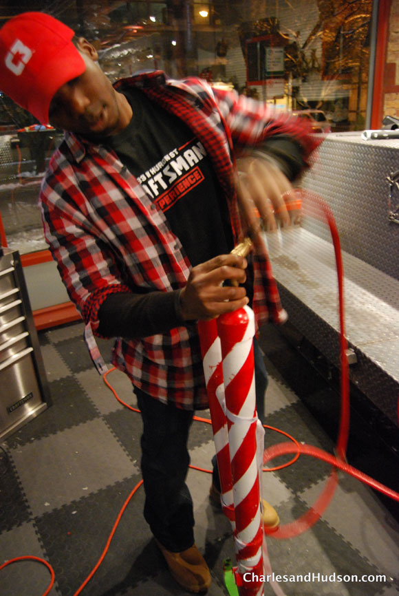 candy cane cannon bo Winter Wonderland at the Craftsman Experience