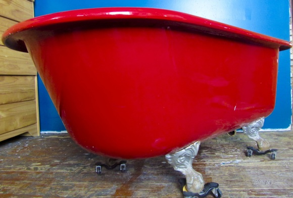 refinishing a claw foot tub