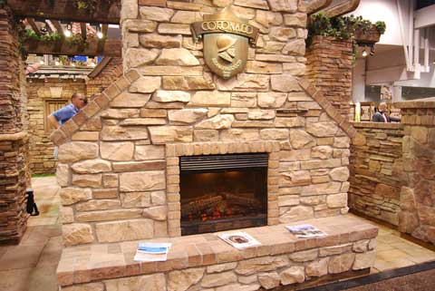 coronado fireplace 15 Fireplaces at the 2010 Builders Show