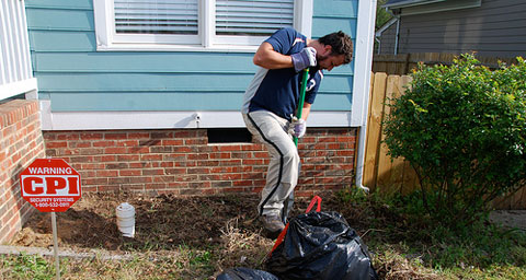 digging flower beds Flower Beds: Out with the Old, In with the New