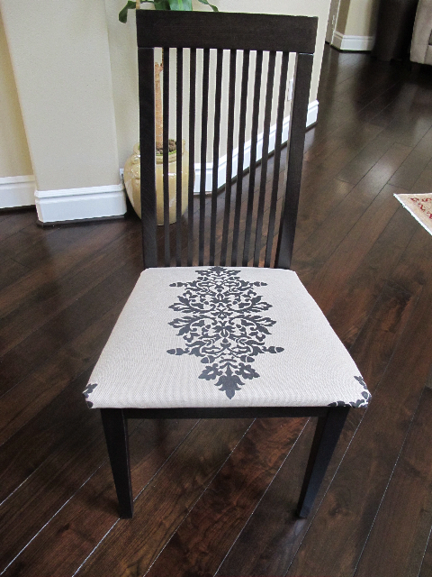 finished chair Reupholster Your Dining Room Chairs