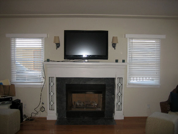 Simple Fireplace Redesign For Less