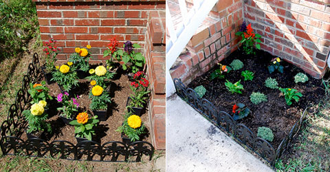 flower plant beds Flower Beds: Out with the Old, In with the New