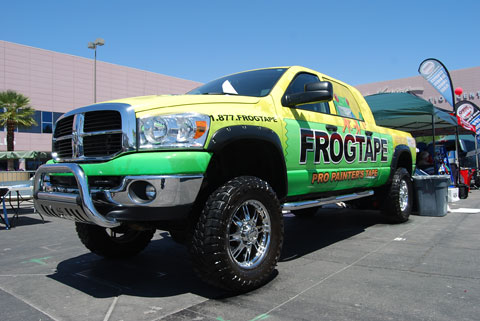 frog tape truck Trucks, Motorcycles and NASCAR at the National Hardware Show