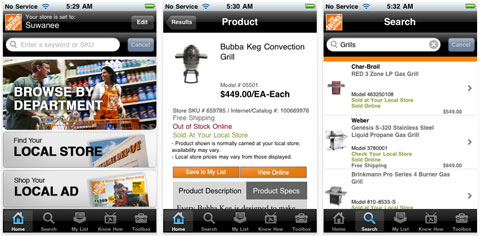 home depot iphone app Home Improvement   Theres an App For That