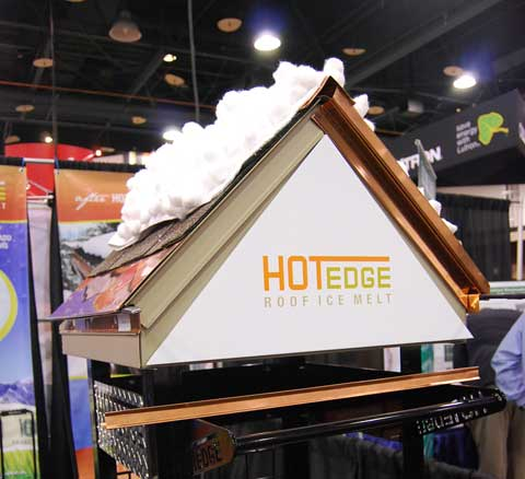 Hot Edge Prevents Icicles and Ice Dams