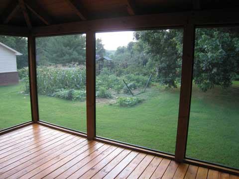 inside porch screen Enjoy a Pest Free Summer with a Screened Porch