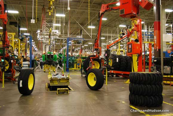 john deere assembly line John Deere Factory Tour and Tractor Testing