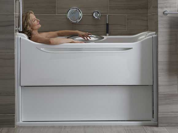 kohler bath tub elevance universal design Kohler Elevance Bathtub Raises the Bar for Universal Design