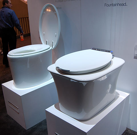 kohler toilet assisted Kohlers Assisted Living Toilet at 2010 Builders Show