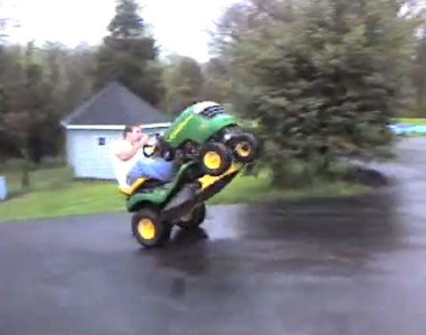 lawn mower wheelie Lawn Mower Modifications: Power = Fun