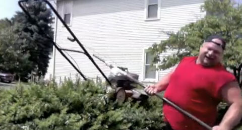 Don't Try This at Home: Lawnmower on a Stick