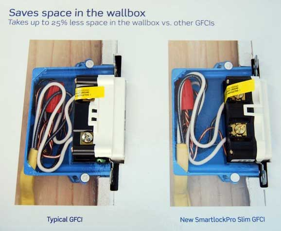 Slim gfci outlets from leviton on ground fault receptacle wiring