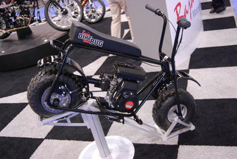 mini bike Trucks, Motorcycles and NASCAR at the National Hardware Show