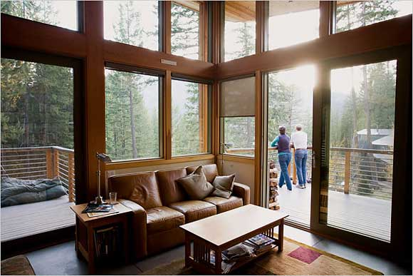 Modern day mountain cabins Modern cabin interior design