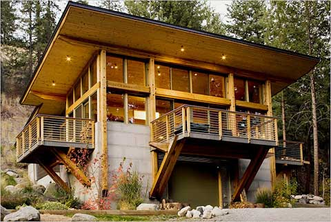 Modern day mountain cabins for Contemporary timber homes