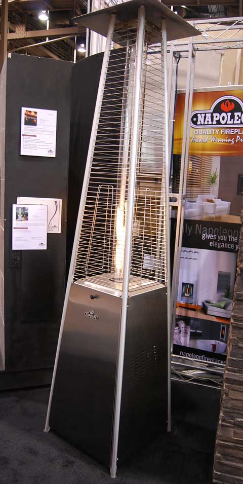 napoleon fire tower 15 Fireplaces at the 2010 Builders Show