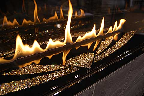 napoleon swarovski 15 Fireplaces at the 2010 Builders Show