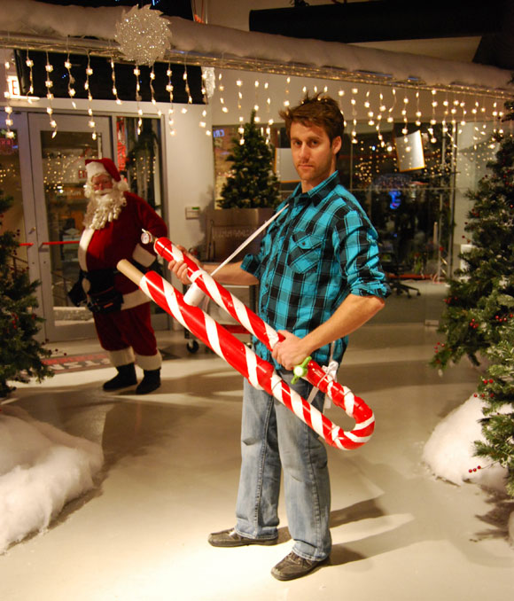 nick candy cane cannon Winter Wonderland at the Craftsman Experience