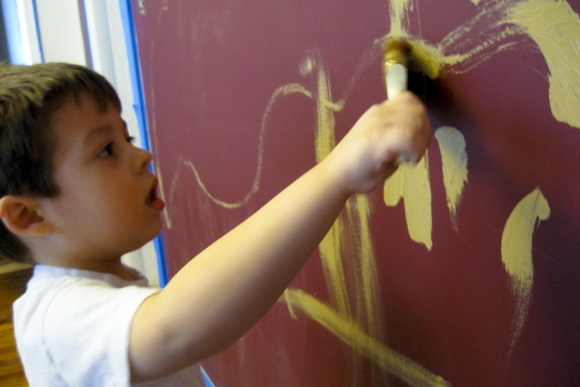 not my little boy painting How To DIY With Small Children