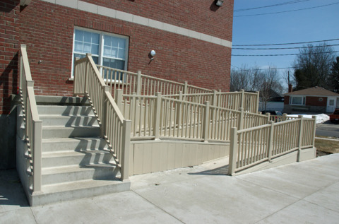 Create easy home access with a wooden ramp for How to find handicap accessible housing