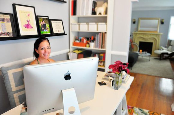 rebecca orlov office Inspiring Small Spaces from Loving. Living. Small.