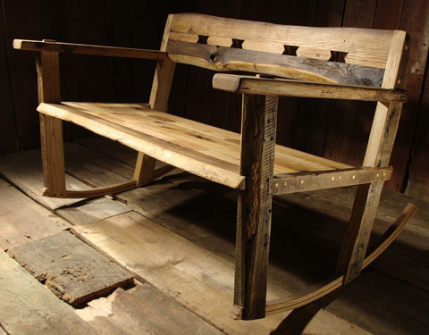 reclaimed rocker etsy Out of the Box Furniture Finds on Etsy