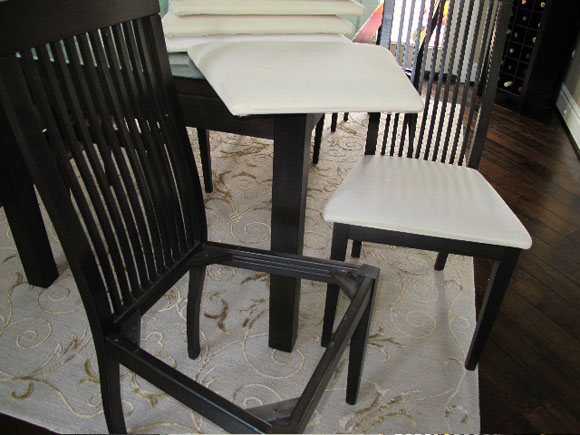 remove chair seat Reupholster Your Dining Room Chairs