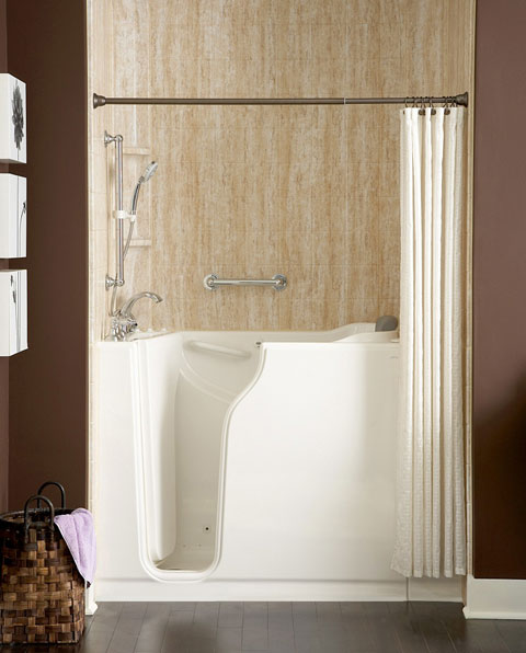 safety tub shower Safety Tubs Bring Universal Design to the Bathroom