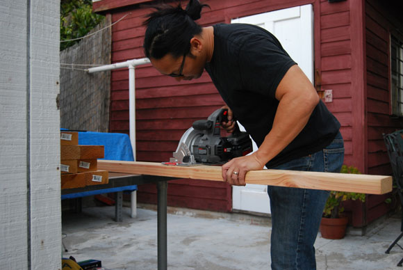 sawhorse cut How To Build DIY Gold Sawhorses