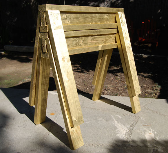 sawhorse stack How To Build DIY Gold Sawhorses