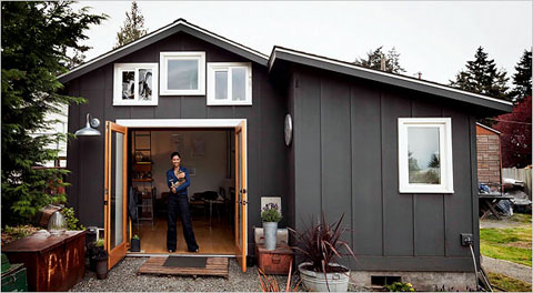 Living in a 250-sqft Remodeled Garage