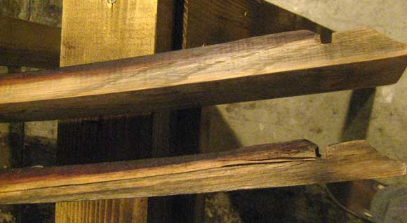 side view How To Build a Candle Holder from Wine Barrel Staves