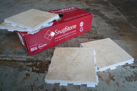 SnapStone Interlocking Tile System: Tiling Made Easier