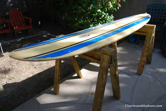 surfboard sawhorse bench How To Remove Wax From a Surfboard