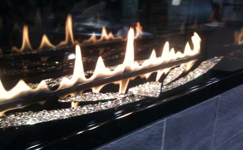swarovski fireplace 7 Unexpected Things at Builders Show 2010
