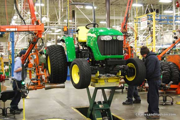 tires installed john deere tractor John Deere Factory Tour and Tractor Testing