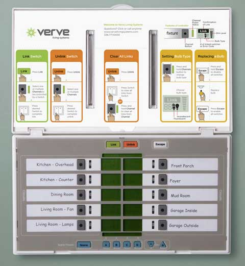 verve living control Wireless Home Lighting with Verve Living Systems