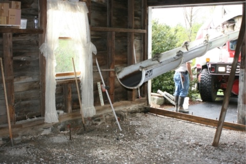 white aisle barn reno Converting an Old Barn Into a Printing Studio