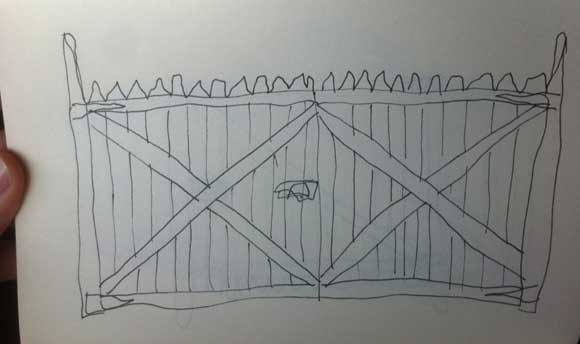 wood gate flat Help Wanted: Design Ideas for a Driveway Gate